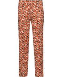 Prada - Stretch Gabardine Trousers - Lyst