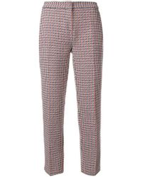Pinko - Checked Trousers - Lyst