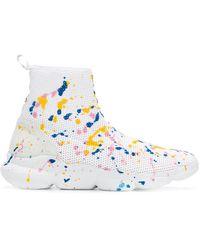 MSGM - Paint-splatter Sock Trainers - Lyst