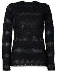 M Missoni - Round Neck Jumper - Lyst