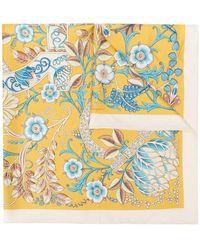 Ferragamo - Floral Print Neck Scarf - Lyst