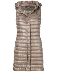 Herno - Long Padded Vest - Lyst