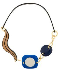 Marni - Abstract Leather Corded Necklace - Lyst