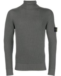 Stone Island - Ribbed Roll Neck Jumper - Lyst