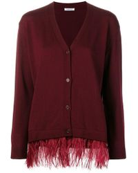 P.A.R.O.S.H. - Feathered Cardigan - Lyst