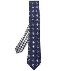 Etro - Paisley Embroidered Tie - Lyst