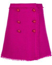 Blumarine - Button Detail Knitted Skirt - Lyst