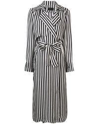 RTA - Karina Striped Duster Coat - Lyst