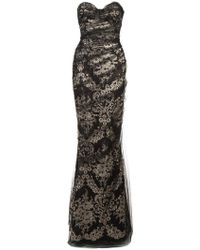 Marchesa - Fitted Net Dress - Lyst