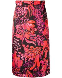 Baum und Pferdgarten - Feather Print Skirt - Lyst