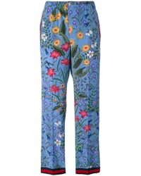 Gucci - New Flora Pajama Trousers - Lyst