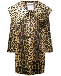 Moschino - Leopard Print Coat - Lyst