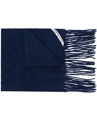 Acne Studios Canada Skinny スカーフ - ブルー