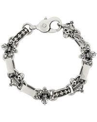 King Baby Studio - Skull & Fleur-de-lis Light Link Bracelet - Lyst