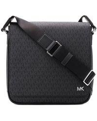 MICHAEL Michael Kors - Monogram Print Messenger Bag - Lyst
