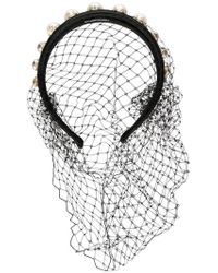 RED Valentino - Mesh Studded Hairband - Lyst