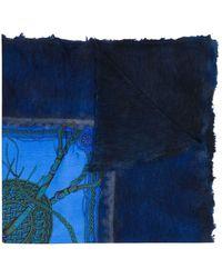 Avant Toi - Vierkante Sjaal Met Print - Lyst