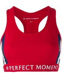 Perfect Moment Racerback Sports Bra - Red