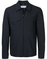 Gieves & Hawkes - Zipped Fitted Jacket - Lyst