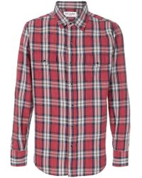 Saint Laurent - Classic Plaid Shirt - Lyst