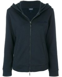 Armani Jeans - Hooded Zip-up Jacket - Lyst