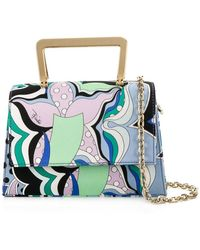 Emilio Pucci - Patterned Shoulder Bag - Lyst