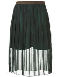 Kolor - Sheer Pleated Skirt - Lyst