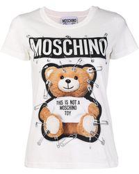Moschino - Safety Pin Bear T-shirt - Lyst
