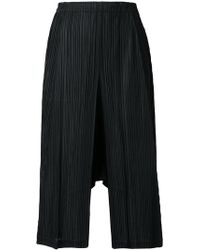 Pleats Please Issey Miyake - Pleated Long Shorts - Lyst