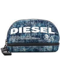DIESEL - Logo Print Wash Bag - Lyst