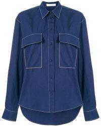 Cedric Charlier - Chemise ample à poches à rabat - Lyst