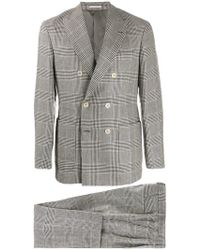 Brunello Cucinelli - Houndstooth Check Two-piece Suit - Lyst