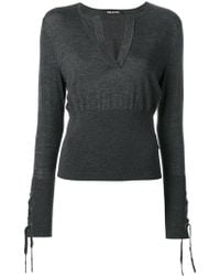 Neil Barrett - Laced Detail Knitted Top - Lyst