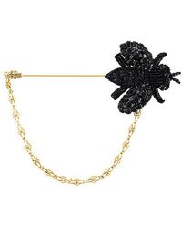 Dolce & Gabbana - Beaded Bee Brooch - Lyst