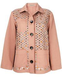 Bottega Veneta - Embellished Jacket - Lyst