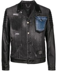 Frankie Morello - Panelled Denim Jacket - Lyst