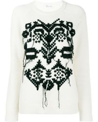 c50c4237b152c RED Valentino - Embroidered Sweater - Lyst