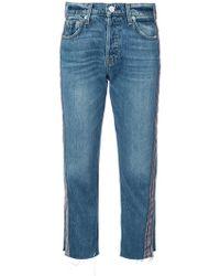 Hudson Jeans - Side-stripe Cropped Jeans - Lyst