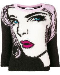 Moschino - 'eyes' Knitted Pullover - Lyst