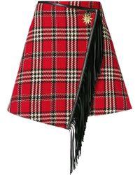 Fausto Puglisi - Checked Mini Skirt - Lyst