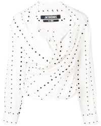 Jacquemus - Polka-dot Ruched Blouse - Lyst
