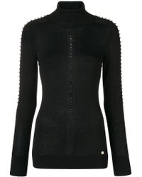 Versace - Turtle-neck Studded Sweater - Lyst