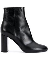 Saint Laurent - Loulou 95 Zipped Ankle Boots - Lyst