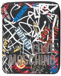 Love Moschino - Graffiti Zip Around Purse - Lyst