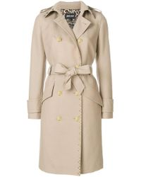 Just Cavalli - Double Breasted Trench Coat - Lyst