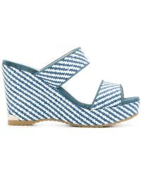 Jimmy Choo - Parker Wedge Sandals - Lyst