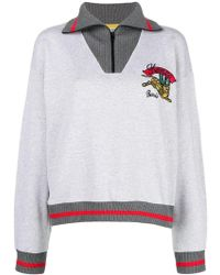 KENZO - Bamboo Tiger Zip-up Sweatshirt - Lyst