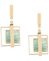 Crystalline - Moss Agate Earrings - Lyst