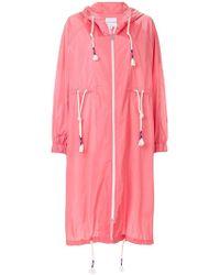 63446ca27bac Lyst - Burberry Brit Bantree Drawstring Raincoat in Natural