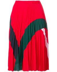 Iceberg - Colourblock Pleated Skirt - Lyst